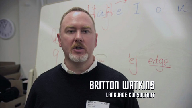 Britton Watkins Star Trek Into Darkness Language Consultant